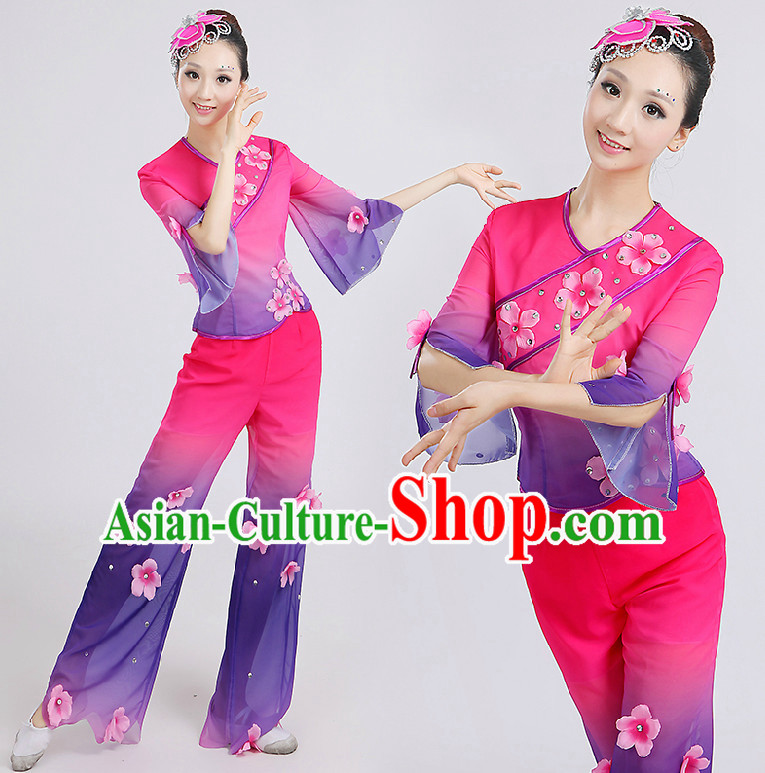 Chinese Folk Dance Costumes Dancing Costume Discount Dance Costume Gymnastic Leotard Dancewear Chinese Dress Dance Wear