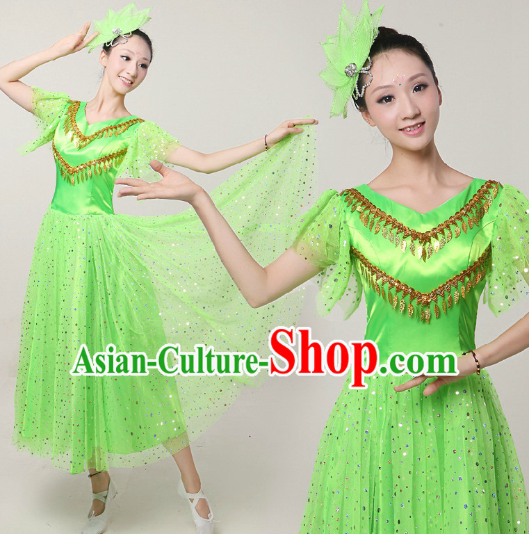 e7644c5ba Chinese Handkerchief Dance Costumes Ribbon Dancing Costume Dancewear ...