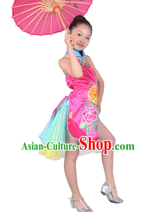 Chinese Kids Dance Costume Competition Dance Costumes