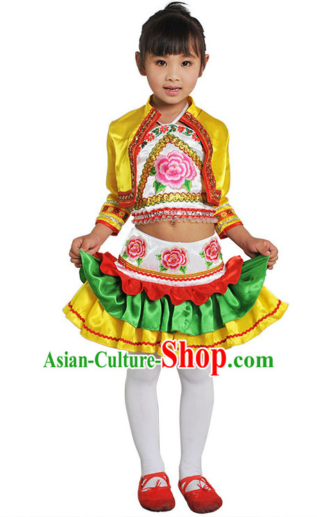 Chinese Folk Dance Costume Competition Dance Costumes for Kids