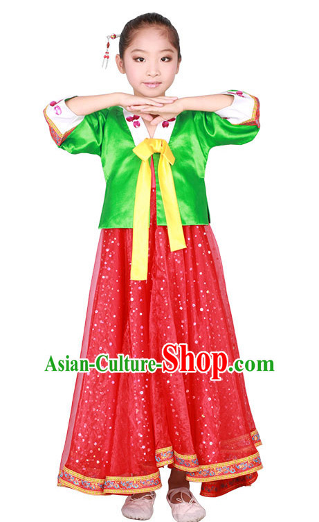 Chinese Korean Ethnic Dance Costume Competition Dance Costumes for Kids