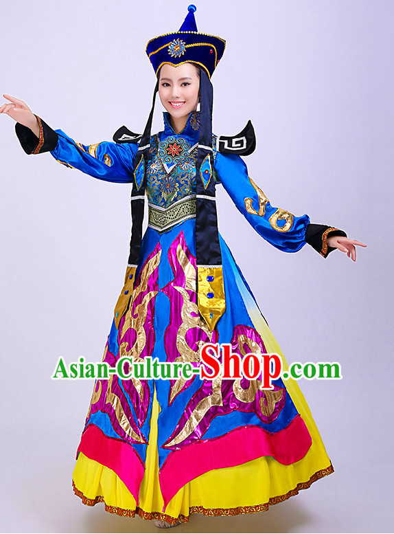 Chinese Mongolian Beauty Competition Dance Costume Group Dancing Costumes for Women