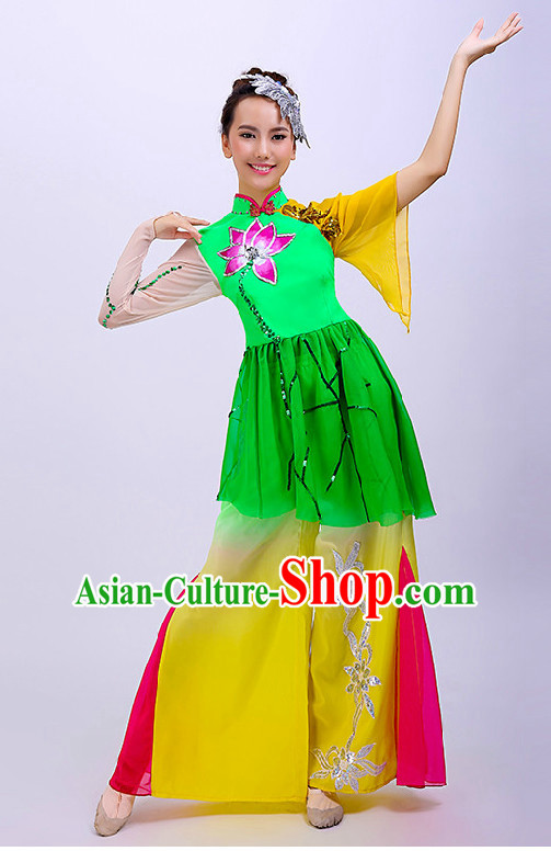 Chinese Folk Competition Dance Costume Group Dancing Costumes for Women