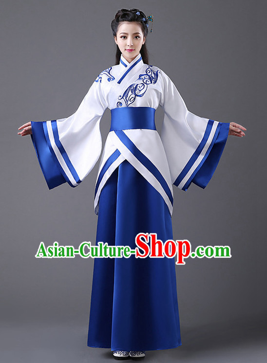 Chinese Classic Hanfu Competition Dance Costume Group Dancing Costumes for Women