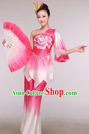 Chinese Classical Competition Fan Dance Costume Group Dancing Costumes for Women