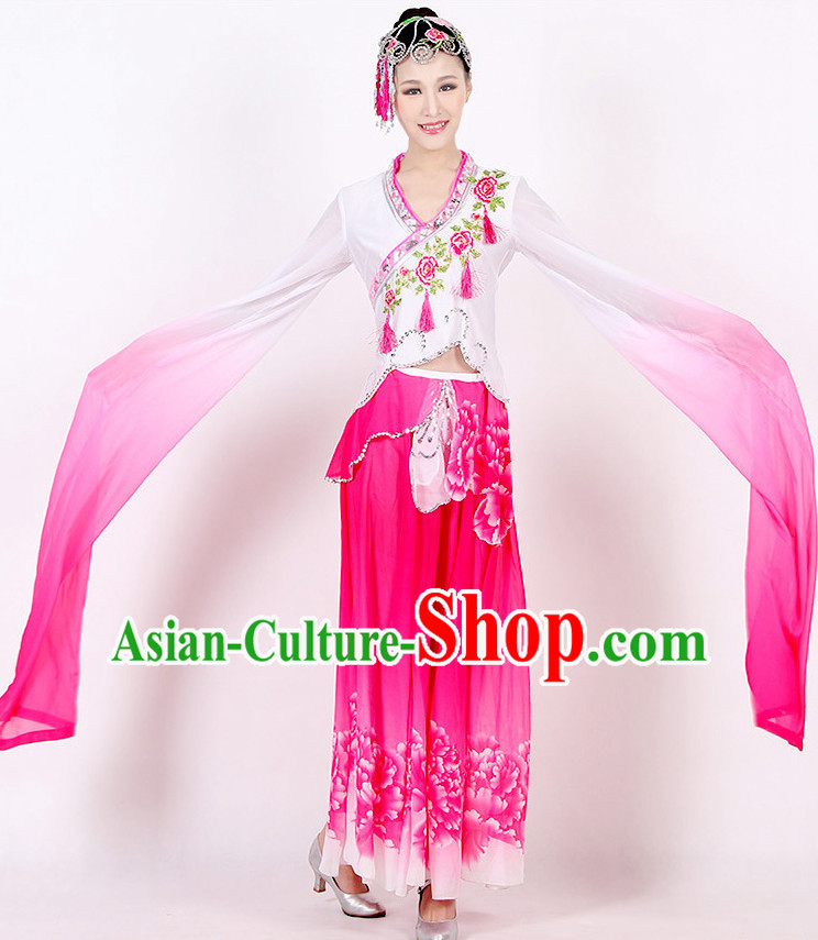 Chinese Long Sleeves Color Transition Dance Costume Discount Dance Costume Ideas Dancewear Supply Dance Wear Dance Clothes Suit