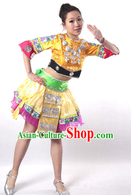 Chinese Style Parade Miao Dance Costume Ideas Dancewear Supply Dance Wear Dance Clothes Suit