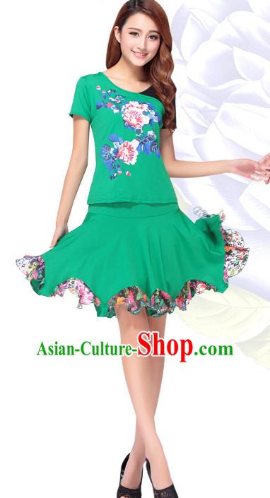 Chinese Style Modern Parade Costume Ideas Dancewear Supply Dance Wear Dance Clothes Suit
