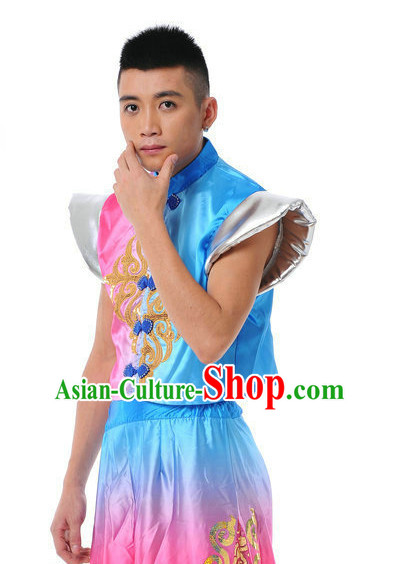 Chinese Folk Fan Dance Suit for Men