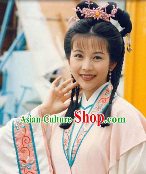Chinese Female Folk Wigs and Hair Accessories