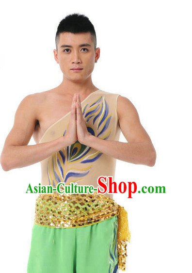 Chinese Classic Dancing Costume Complete Set for Men