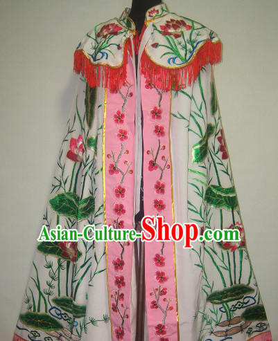 Chinese Opera Lotus Embroidered Mantle for Women
