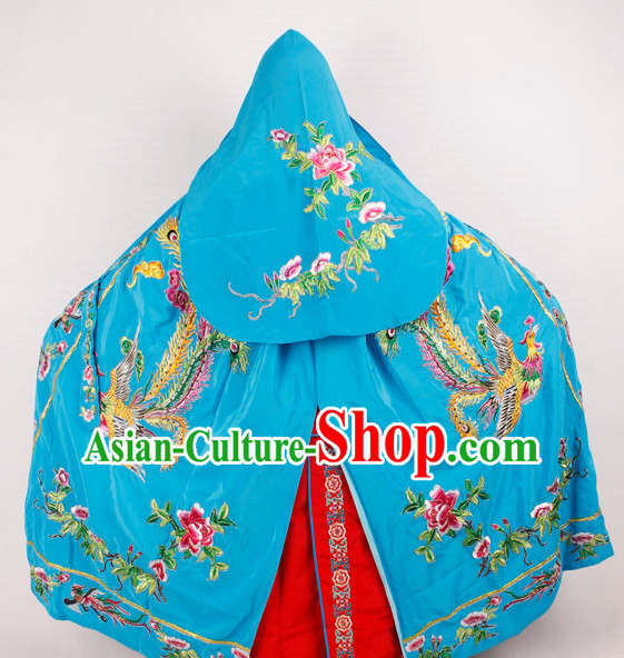 Blue Phoenix Embroidered Opera Princess Cape Complete Set