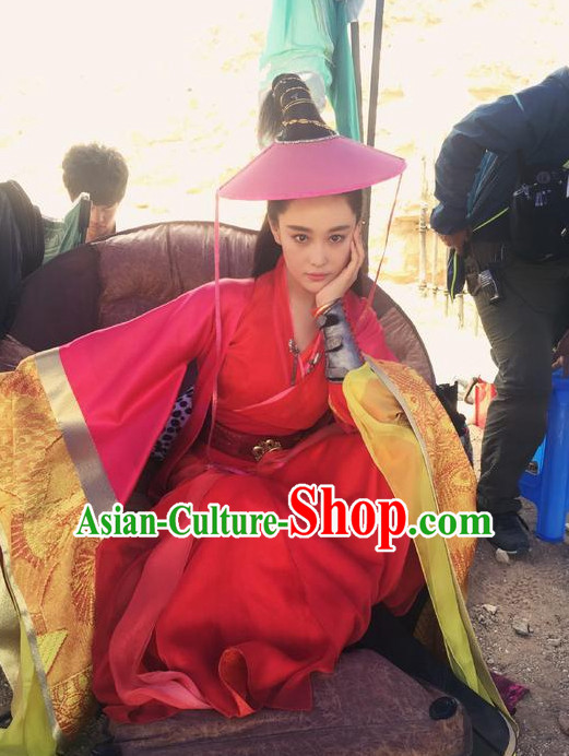 Chinese Classical Swordswoman Hanfu Dresses for Women