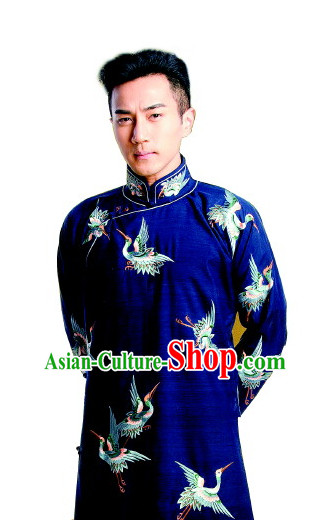 Minguo Time Mandarin Chinese Nobleman Embroidered Long Robe