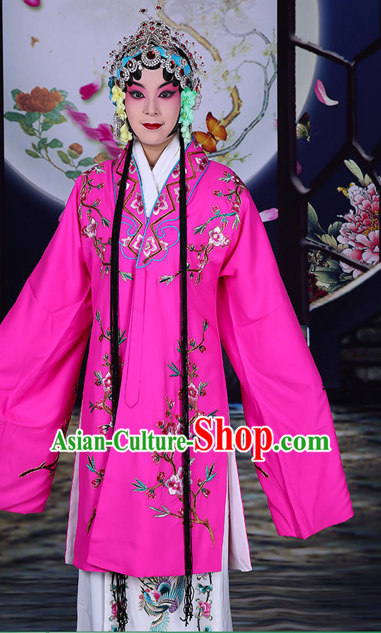 Ancient Chinese Hua Dan Empress Opera Costumes and Hair Accessories Complete Set for Women