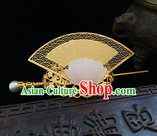 Ancient Chinese Prince Fan Shape Crown Headwear Hair Accessories