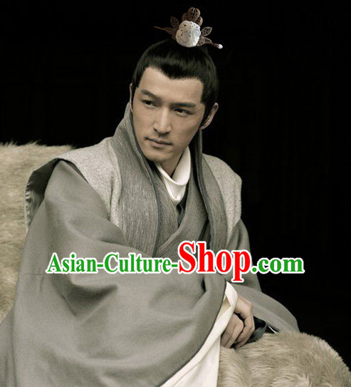 Silver Ancient Chinese Mei Chang Su Wise Men Handmade Jade Headwear Head Pieces Coronet Crown