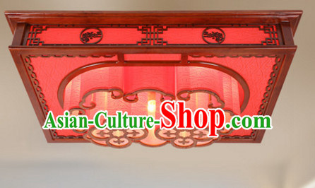 Chinese Ancient Handmade and Carved Natural Wood Ceiling Palace Lantern