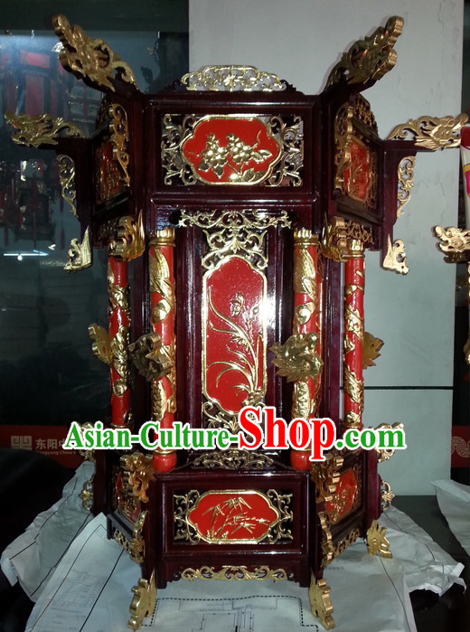 Golden Dragon Chinese Classical Handmade and Carved Hanging Palace Lantern