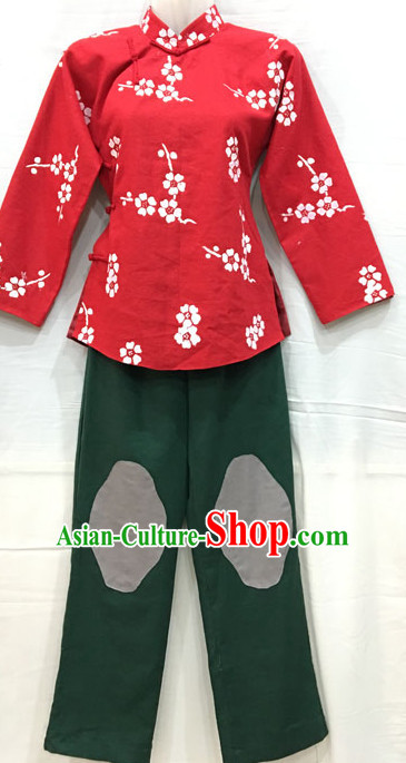 Traditional Chinese Opera Hong Dong Ji Xiao Tie Mei Costumes for Women or Girls