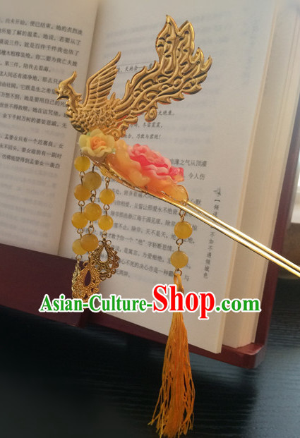 Ancient Chinese Handmade Phoenix Princess Superwoman Hair Jewelry Headwear Hair Accessories