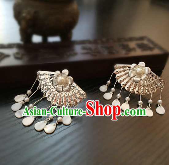 Ancient Chinese Fan Shape Earrings for Women