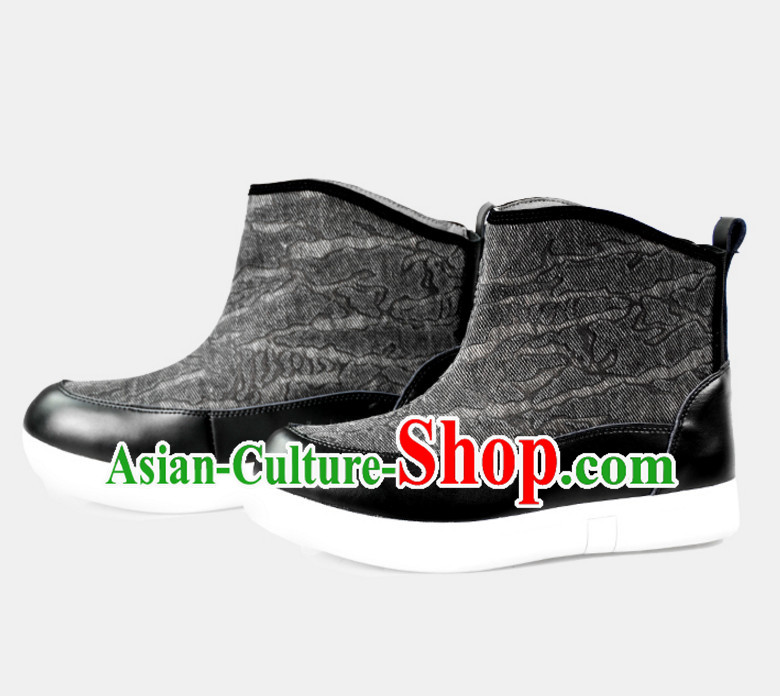 Traditional Chinese Style Handmade Boots for Men