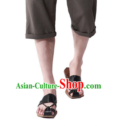 Handmade Traditional Chinese Classic Summer Shoes for Men
