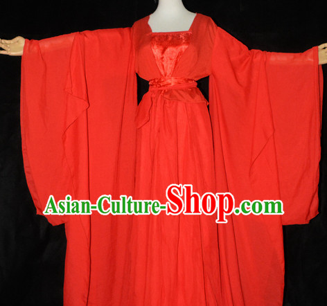 Traditional Chinese Classical Red Bridal Dress for Women