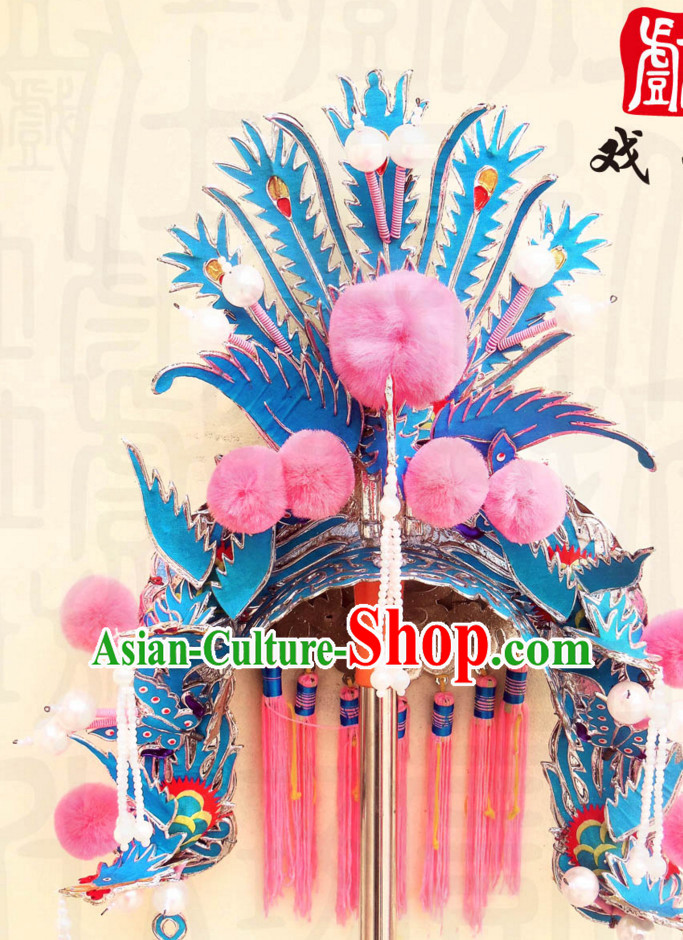 Traditional Chinese Classical Hua Dan Opera Phoenix Hat for Women