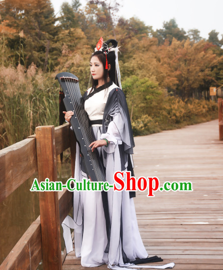 Ancient Chinese Empress Princess Queen Costumes Complete Set for Women or Girls