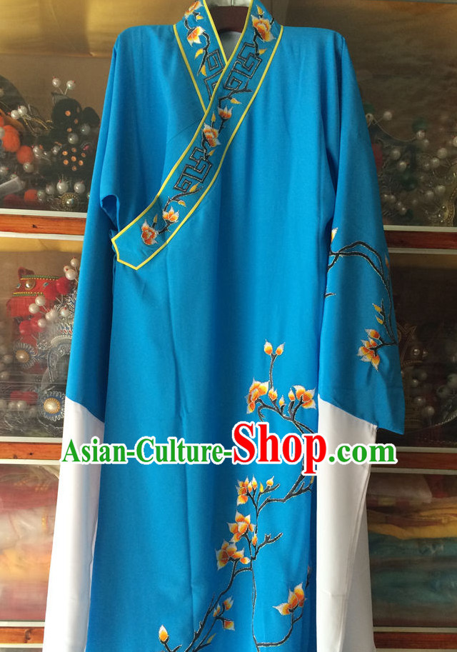 Ancient Chinese Opera Embroidered Scholar Costumes Complete Set for Men