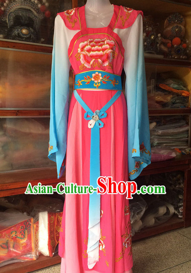 Ancient Chinese Opera Embroidered Hua Dan Costumes Complete Set for Women