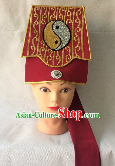 Traditional Chinese Classical Opera Taoist Hat for Men