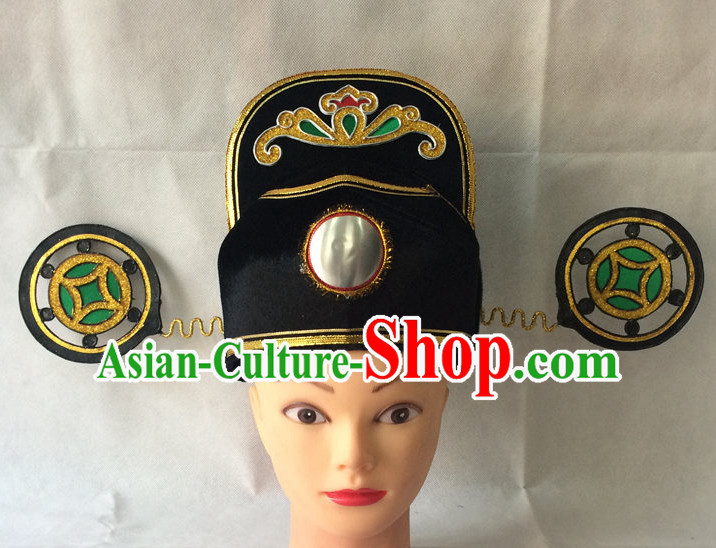 Traditional Chinese Black Official Hat for Men