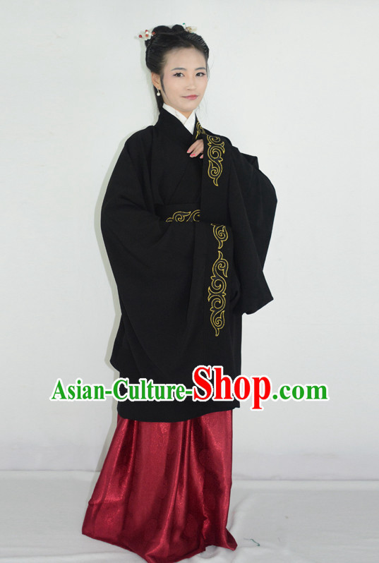 Ancient Chinese Han Dynasty Clothing and Hair Accessories Complete Set for Women
