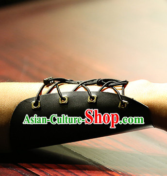 Chinese Ancient Handmade Leather Arms Wrappings