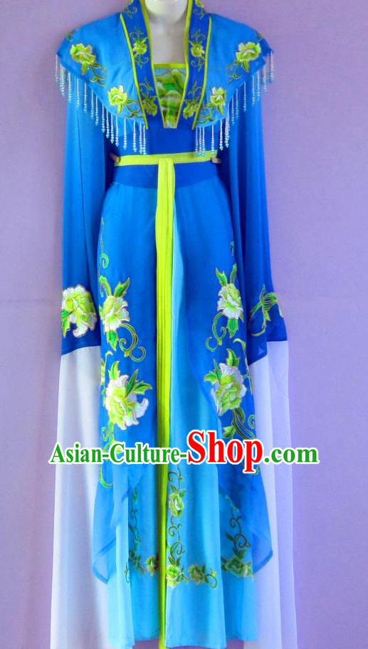 Ancient Chinese Blue Hanfu Dresses Complete Set for Women