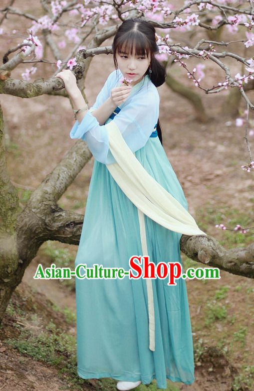 Chinese Classical Tang Dynasty Clothing for Women or Girls