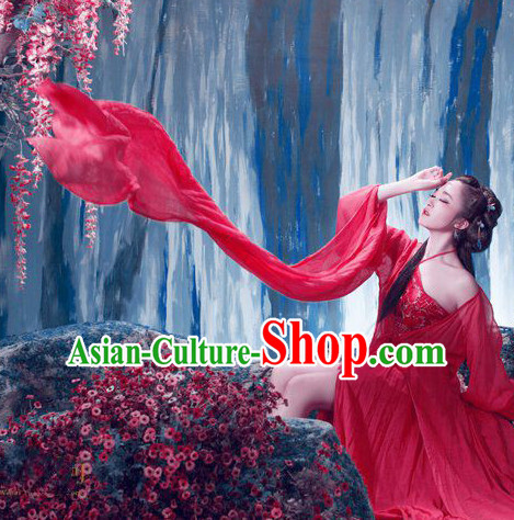 Red Chinese Classical Lady Costumes for Women or Girls