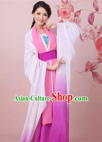 Chinese Classical Water Sleeve Shuixiu Dance Costume Complete Set for Women