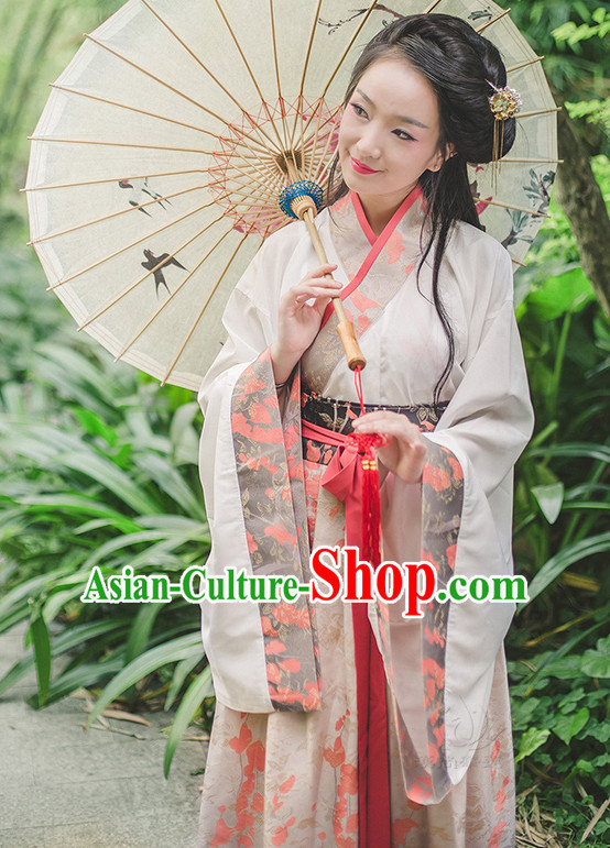 Chinese Ancient Han Dyansty Wear and Hair Jewelry for Women