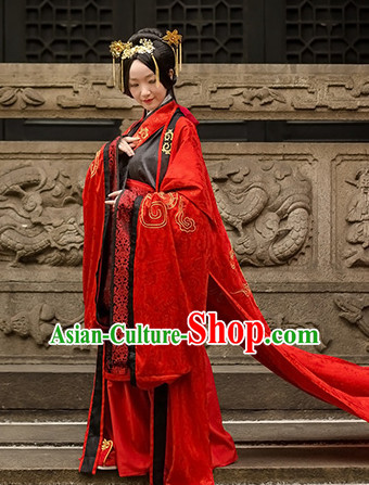 Chinese Traditional Wedding Clothing Hanfu Costume Han Fu Clothing for Sale
