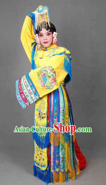 Ancient Chinese Opera Hua Dan Wedding Costumes and Headpieces Complete Set for Women