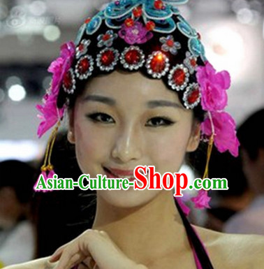 Chinese Opera Hair Accessories Headwear Headdress Hair Accessory Wig Set