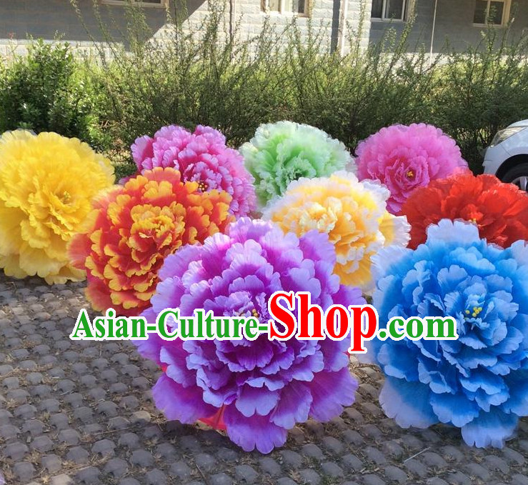 31.5 Inches Professional Stage Performance Large Peony Flower Umbrella
