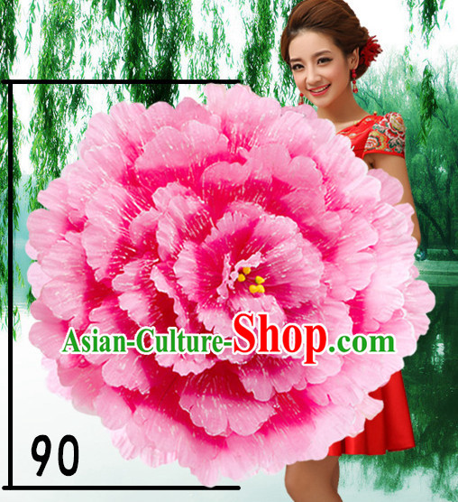 35 Inches Professional Stage Performance Large Peony Flower Umbrella