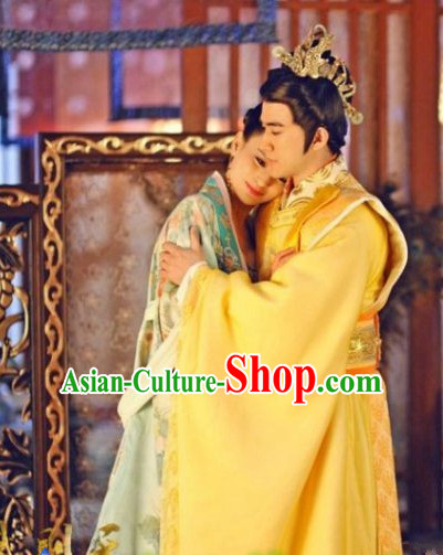 Ancient Chinese Tang Dynasty Emperor Dragon Costumes for Men