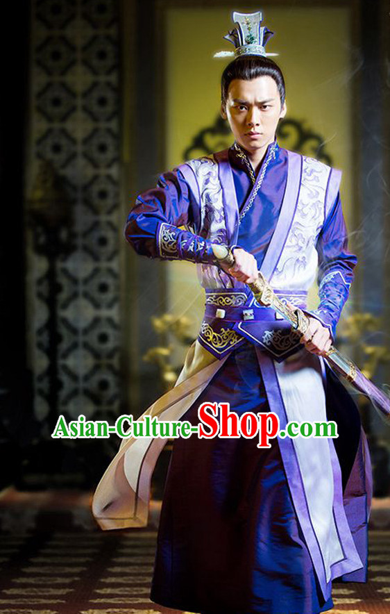 Ancient Chinese Embroidered Prince Swordsman Clothing